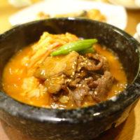 季節限定の牛肉とキムチの石焼チゲスープチャーハン